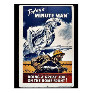 Today's Minute Man Postcard