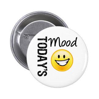 Today's Mood Emoticon Bright Smile 2 Inch Round Button