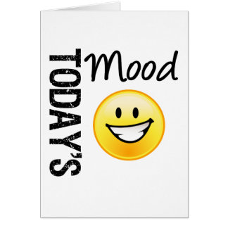 Today's Mood Emoticon Bright Smile Greeting Card