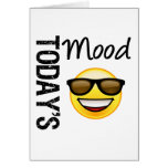 Today's Mood Emoticon Cool with Shades Cards