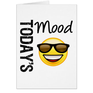 Today's Mood Emoticon Cool with Shades Greeting Card