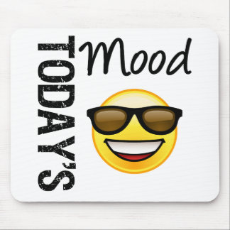 Today's Mood Emoticon Cool with Shades Mouse Pad