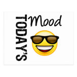 Today's Mood Emoticon Cool with Shades Postcard