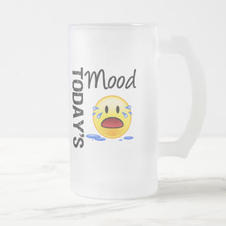 Today's Mood Emoticon Crying Coffee Mugs