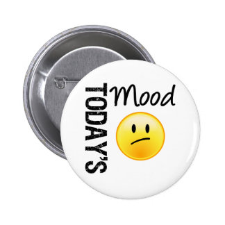 Today's Mood Emoticon Disappointed 2 Inch Round Button