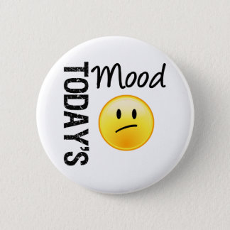 Today's Mood Emoticon Disappointed Pinback Button
