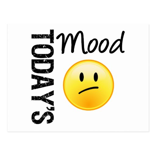 Today's Mood Emoticon Disappointed Postcard