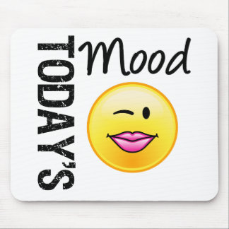 Today's Mood Emoticon Flirty Mouse Pad