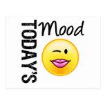 Today's Mood Emoticon Flirty Postcard