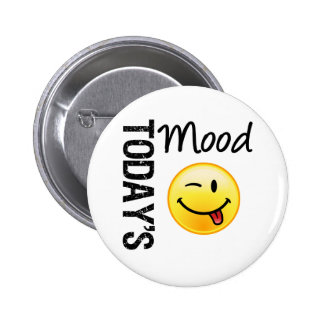 Today's Mood Emoticon Playful 2 Inch Round Button