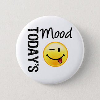 Today's Mood Emoticon Playful Pinback Button