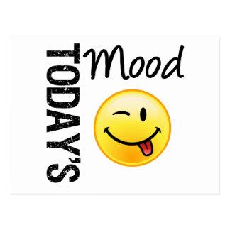 Today's Mood Emoticon Playful Postcard