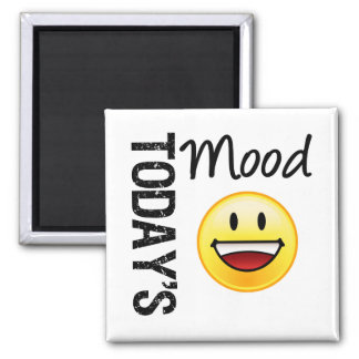 Today's Mood Emoticon Toothy Smile 2 Inch Square Magnet