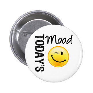 Today's Mood Emoticon Winking 2 Inch Round Button
