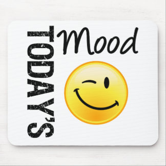 Today's Mood Emoticon Winking Mouse Pad