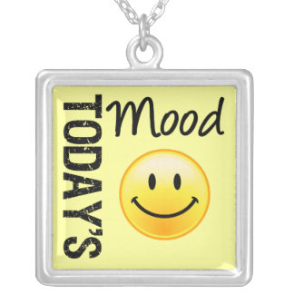Today's Mood Happy & Smiling Silver Plated Necklace