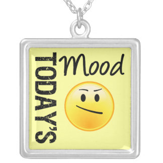 Today's Mood Perplexed Silver Plated Necklace