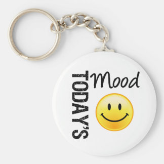 Today's Mood Smile Basic Round Button Keychain