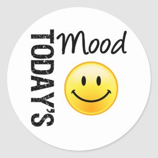 Today's Mood Smile Classic Round Sticker