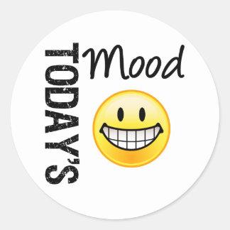 Today's Mood Very Happy Emoticon Classic Round Sticker
