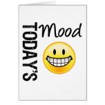 Today's Mood Very Happy Emoticon Greeting Cards