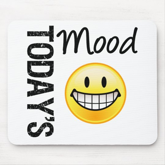 Today's Mood Very Happy Emoticon Mouse Pad