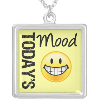 Today's Mood Very Happy! Silver Plated Necklace