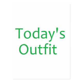 Today's Outfit- Green Postcard