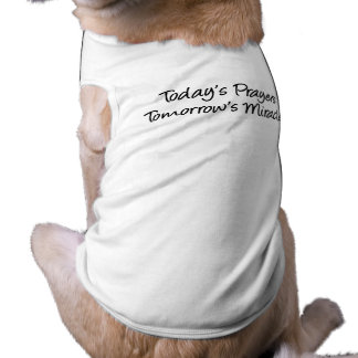 Today's Prayers Pet Tshirt