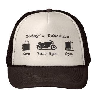 Today's schedule - Coffee, 2wheels, & beer hat