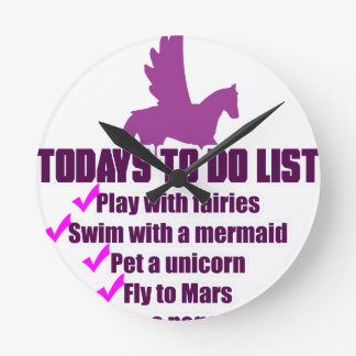 Today's To Do List Round Clock
