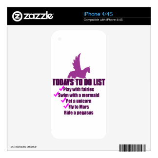Today's To Do List Skin For The iPhone 4