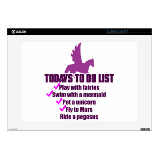 """Today's To Do List 15"""" Laptop Decals"""