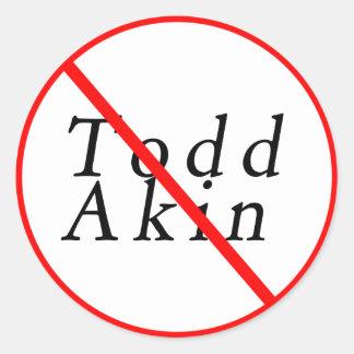 Todd 2012 relacionado pegatina redonda