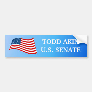 Todd Akin for Senate Bumper Sticker Car Bumper Sticker