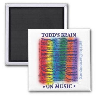 todd-cerebro imán cuadrado