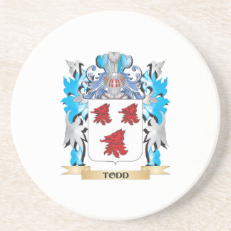 Todd Coat of Arms - Family Crest Beverage Coaster