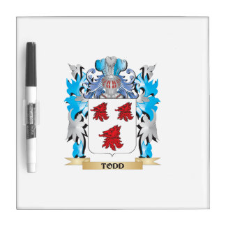 Todd Coat of Arms - Family Crest Dry Erase Whiteboard
