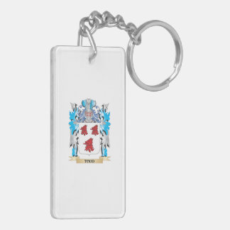 Todd Coat of Arms - Family Crest Rectangular Acrylic Keychain