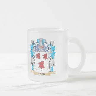 Todd Coat of Arms - Family Crest Frosted Glass Mug