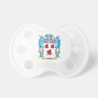 Todd Coat of Arms - Family Crest BooginHead Pacifier