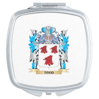 Todd Coat of Arms - Family Crest Travel Mirrors
