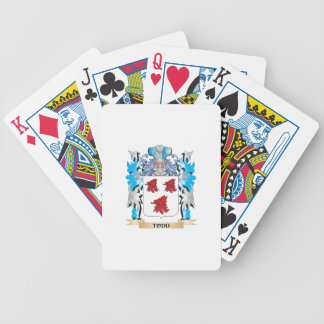 Todd Coat of Arms - Family Crest Bicycle Playing Cards