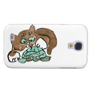 Todd el gatito de Brown encuentra una tortuga Funda Para Galaxy S4