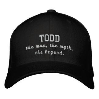 Todd el hombre, el mito, la leyenda gorra de beisbol