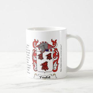 Todd Family Coat of Arms mug