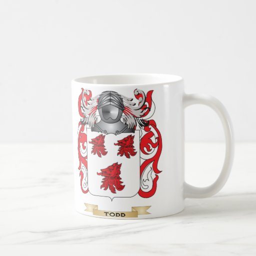 Todd Family Crest (Coat of Arms) Classic White Coffee Mug
