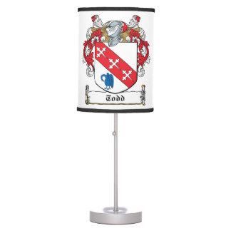 Todd Family Crest Desk Lamp