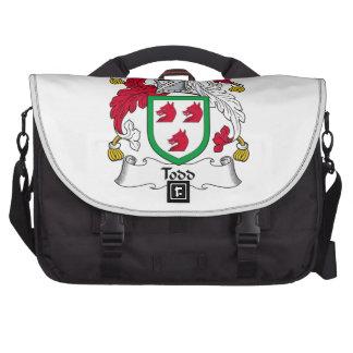 Todd Family Crest Laptop Messenger Bag