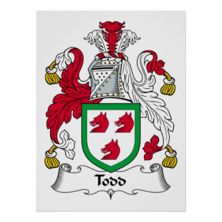 Todd Family Crest Print